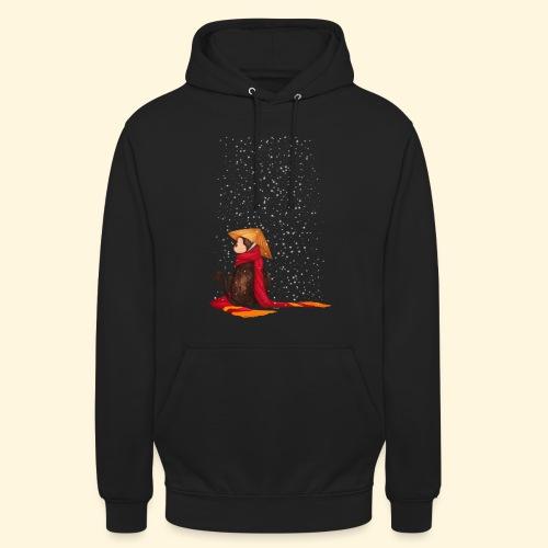 Un singe en hiver sous la neige - Sweat-shirt à capuche unisexe