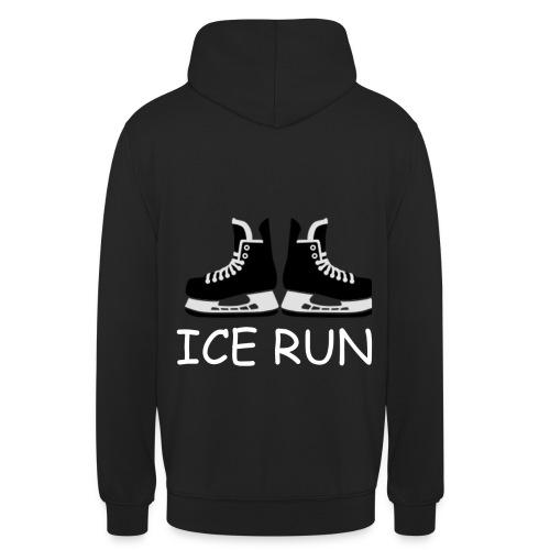 Ice Run - Sweat-shirt à capuche unisexe