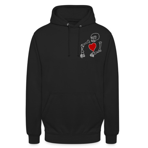 skeleton boi, good heart - Unisex Hoodie