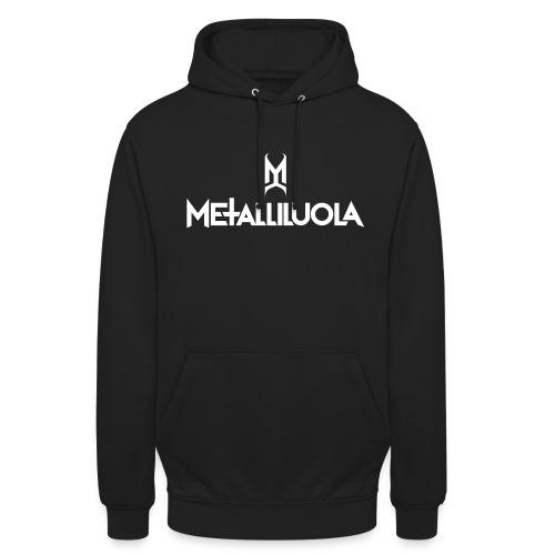 """Metalliluola valkoinen logo - Huppari """"unisex"""""""