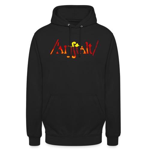 logo gerastert (flamme) - Unisex Hoodie