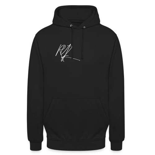 RYZ Unterschrift Logo (WEISS) - Unisex Hoodie