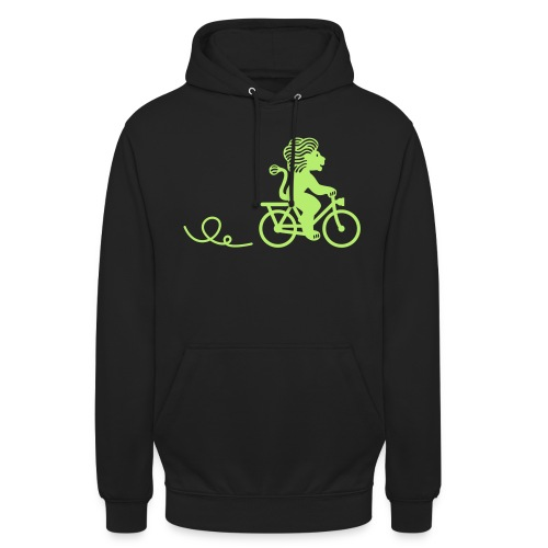 Züri-Leu beim Velofahren ohne Text - Unisex Hoodie