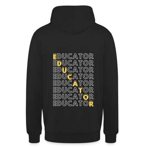 EDUCATOR - Sudadera con capucha unisex