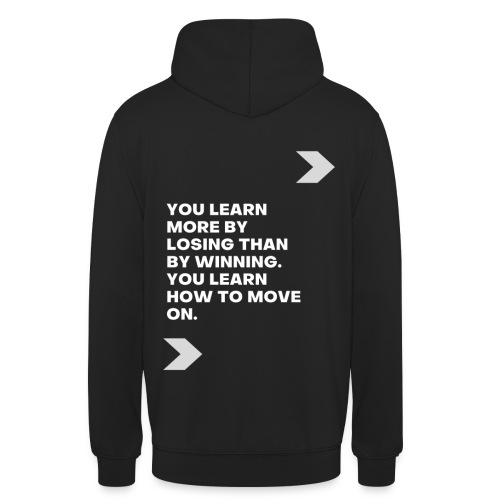 YOU LEARN MORE BY... - Sudadera con capucha unisex