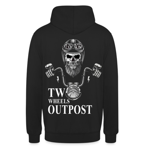 Two Wheels Outpost - Sudadera con capucha unisex