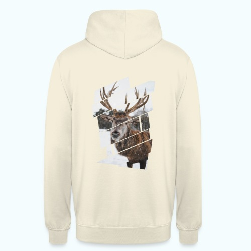Hipster reindeer - Unisex Hoodie