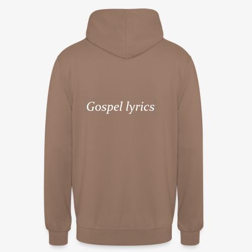 gospellyrics white lettered - Hoodie unisex