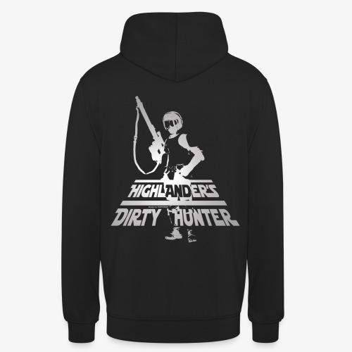 Highlander's Dirty Hunter Noir - Sweat-shirt à capuche unisexe
