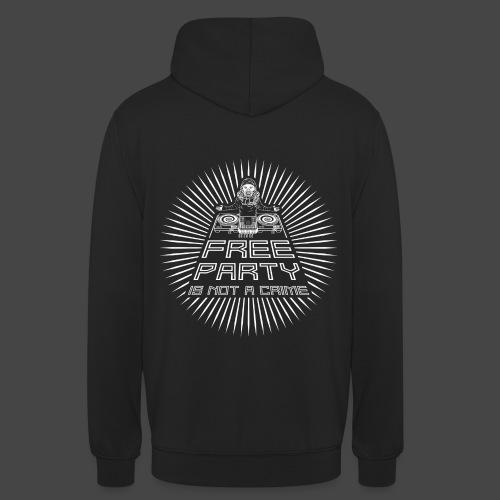 free party n'est pas un crime tekno 23 - Sweat-shirt à capuche unisexe