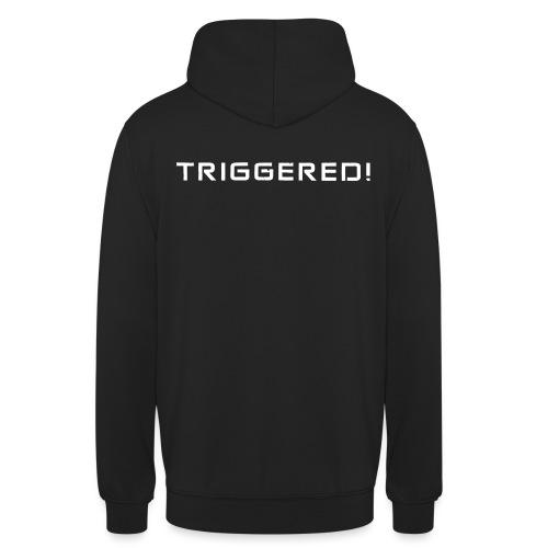 White Negant logo + TRIGGERED! - Hættetrøje unisex