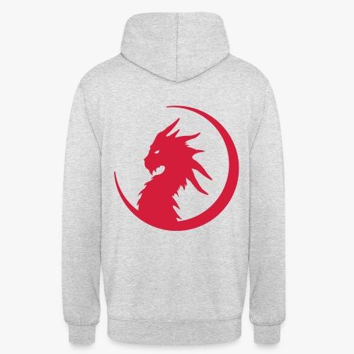 Dragon Moon Silhouette - Hættetrøje unisex