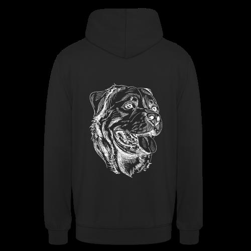 Rottweiler Zeichnung Hundefreunde Design - Unisex Hoodie