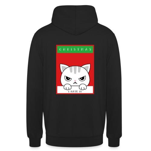 Ik haat kerstmis boze kat - Hoodie unisex