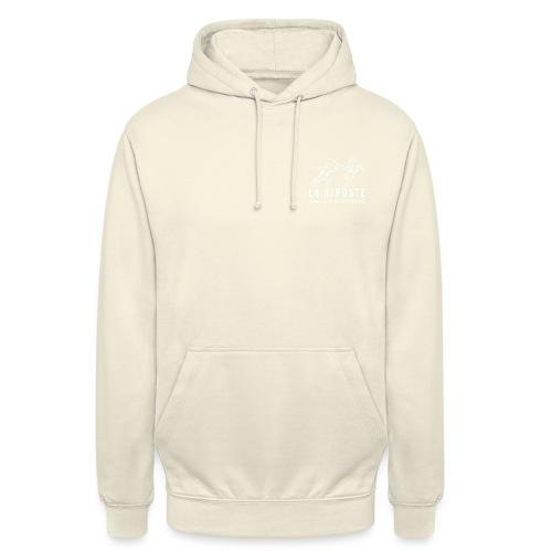 La Riposte Blanc - Sweat-shirt à capuche unisexe