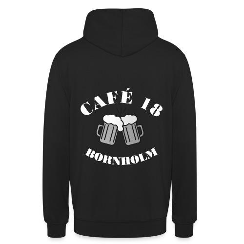 Cafe 18 BW - Hættetrøje unisex