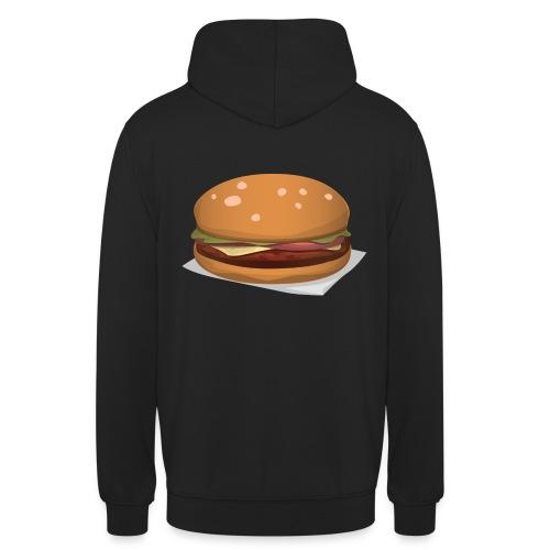 hamburger-576419 - Felpa con cappuccio unisex