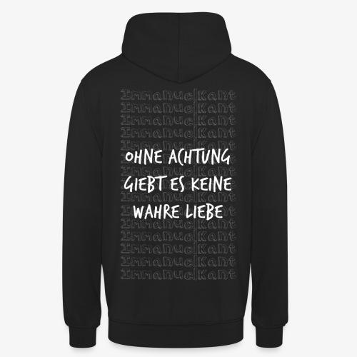 Liebe Immanuel Kant Zitat Spruch Geschenk Idee - Unisex Hoodie