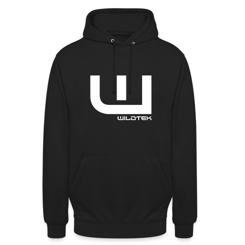 Wildtek Logo White - Unisex Hoodie