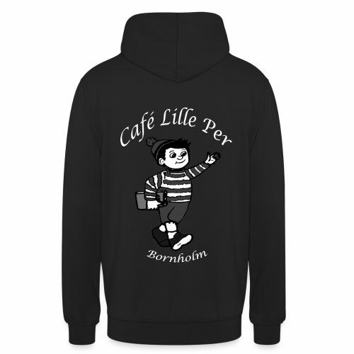 Cafe LillePer Logo BW - Hættetrøje unisex