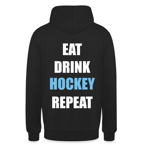Eat Drink Hockey Repaet - Hættetrøje unisex