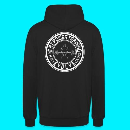 logo white png - Felpa con cappuccio unisex
