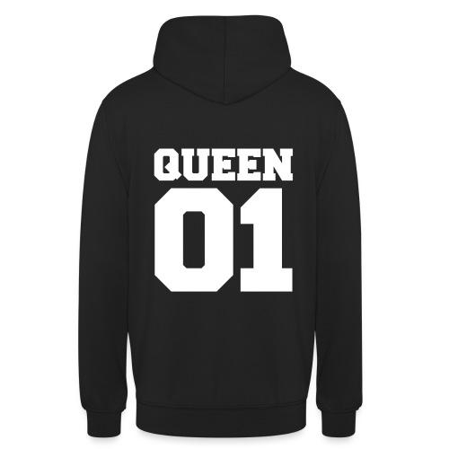 Queen (Weiß) - Unisex Hoodie