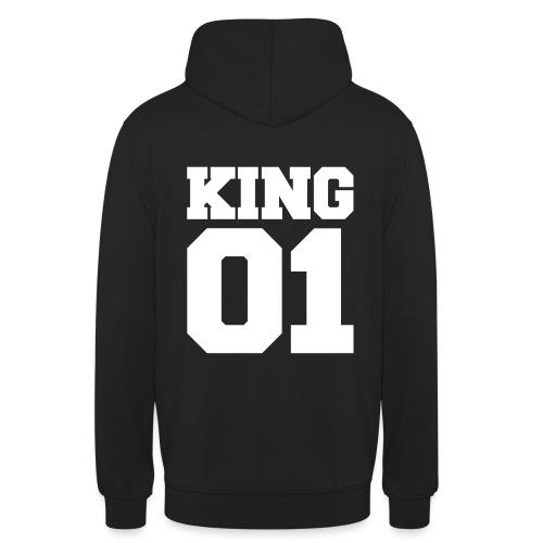 King (Weiß) - Unisex Hoodie