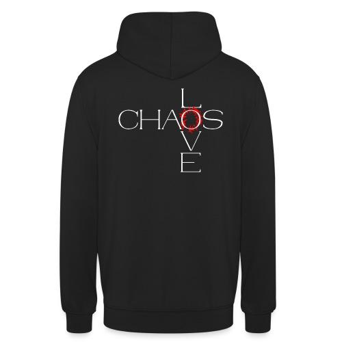 Chaos love - Sweat-shirt à capuche unisexe