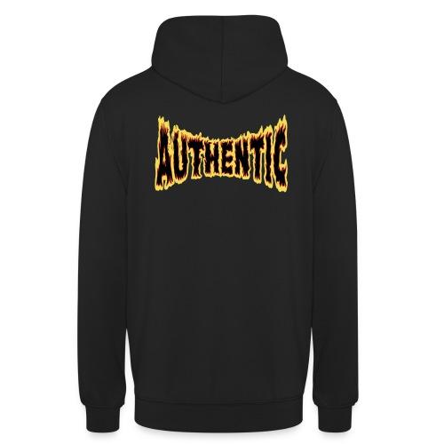 authentic on fire - Sudadera con capucha unisex