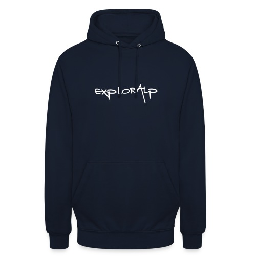 exploralp logo e testo - Unisex Hoodie