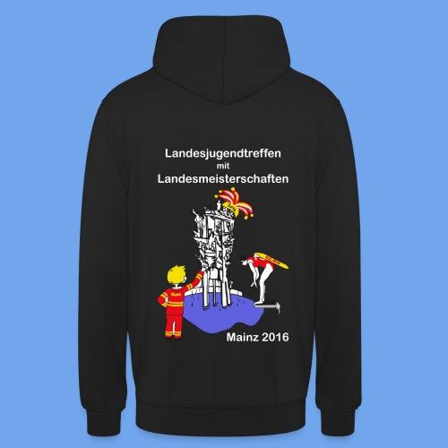 LM Logo vierfarbig weiß - Unisex Hoodie