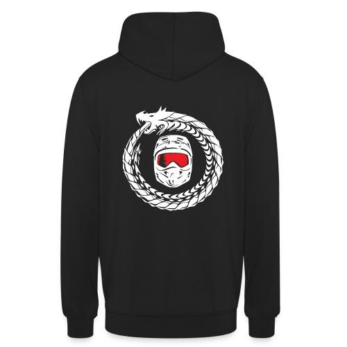 Schrift + Logo weiß - Unisex Hoodie