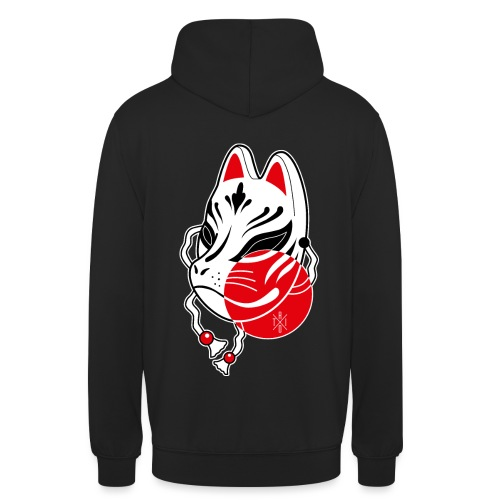 Kitsune - Felpa con cappuccio unisex