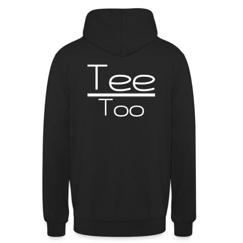 TeeToo text logga vit - Luvtröja unisex
