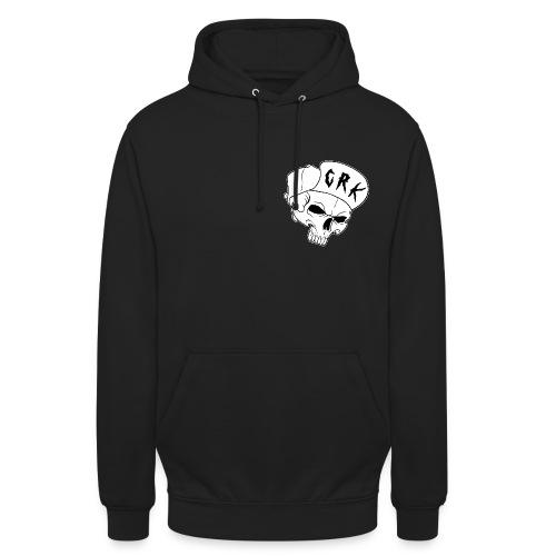 logo noir contour blanc png - Sweat-shirt à capuche unisexe