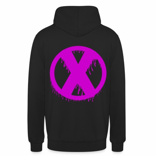 X - Sweat-shirt à capuche unisexe