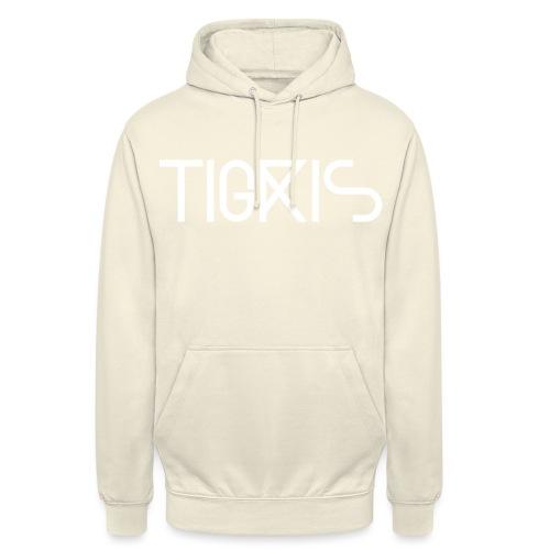 Tigris Vector Text White - Unisex Hoodie