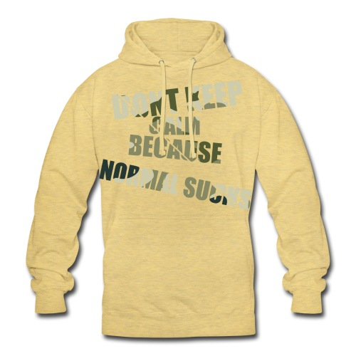 Normal sucks moro - Bluza z kapturem typu unisex