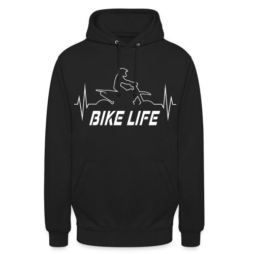 Motorrad Geschenkidee - Supermoto Herzfrequenz EKG - Unisex Hoodie
