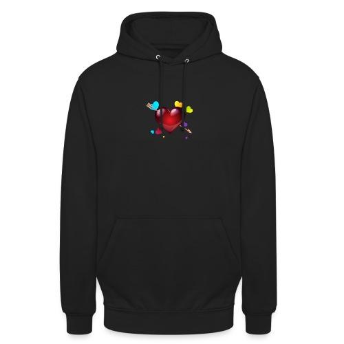 coeurs coloré - Sweat-shirt à capuche unisexe