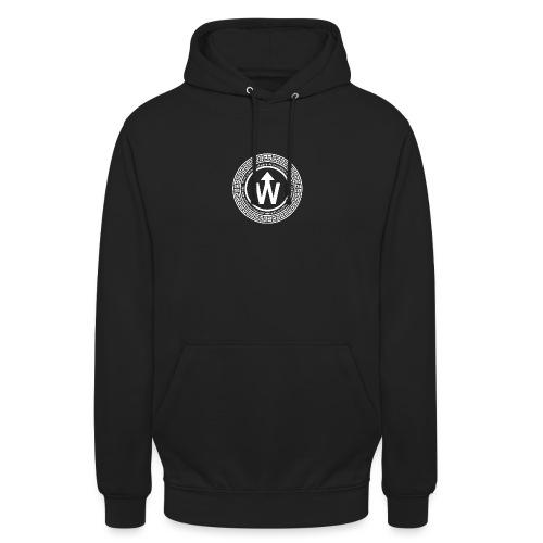 wit logo transparante achtergrond - Hoodie unisex