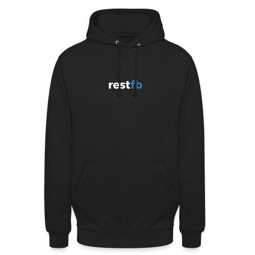 RestFB logo white - Unisex Hoodie