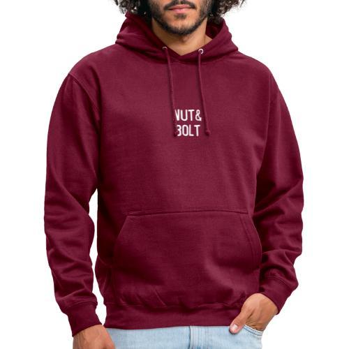 Brand Logo White by Nut & Bolt Apparel - Unisex Hoodie