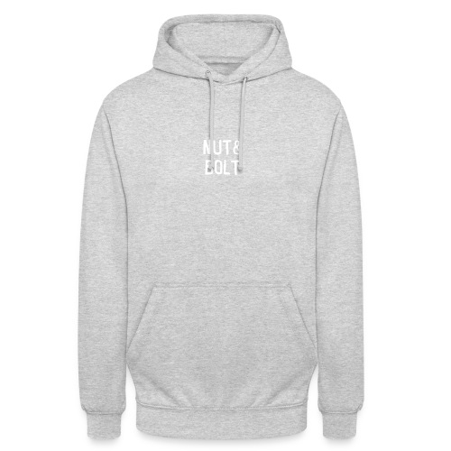 Brand Logo White by Nut & Bolt Apparel - Unisex Hoodie