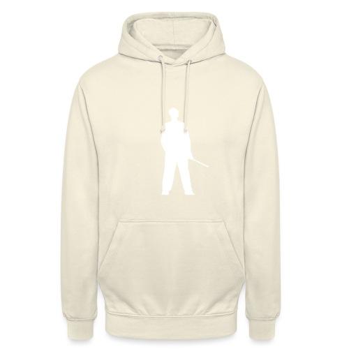 silhouette rkelly blanc - Sweat-shirt à capuche unisexe