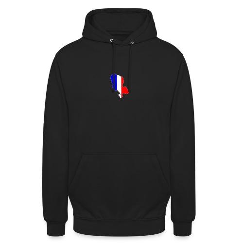 Carte Territoire de Belfort bleu blanc rouge - Sweat-shirt à capuche unisexe