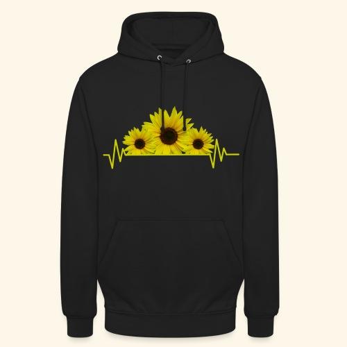 Sonnenblumen Herzschlag Sonnenblume Blumen Blüten - Unisex Hoodie