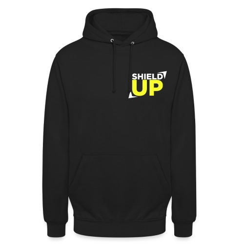 Shield Up yellow png - Unisex Hoodie