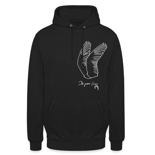 Do Your Thing Wings Black Swan - Unisex Hoodie